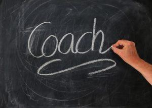 """黒板に""""Coach"""""""